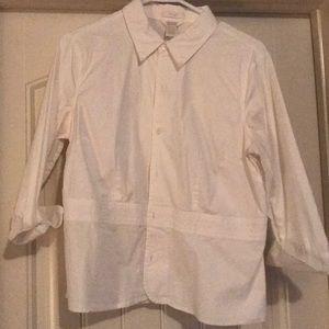 C&B white button-up blouse
